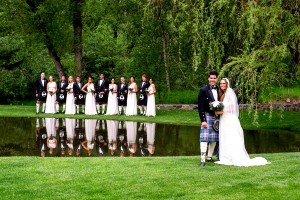 Rachel & Connor at Dunafon Castle Photo courtesy of Mark Hayes Photography